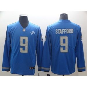 Detroit Lions Matthew Stafford Long Sleeve Jersey